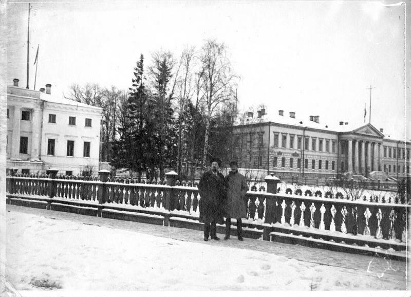 1918. Архангельск. Правительственный дворец и здание союзных посольств