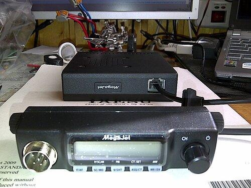 MegaJet MJ-550- новая 2011 г автомобильная радиостанция мощностью в 10 Вт и работающая в Си-Би диапазоне.