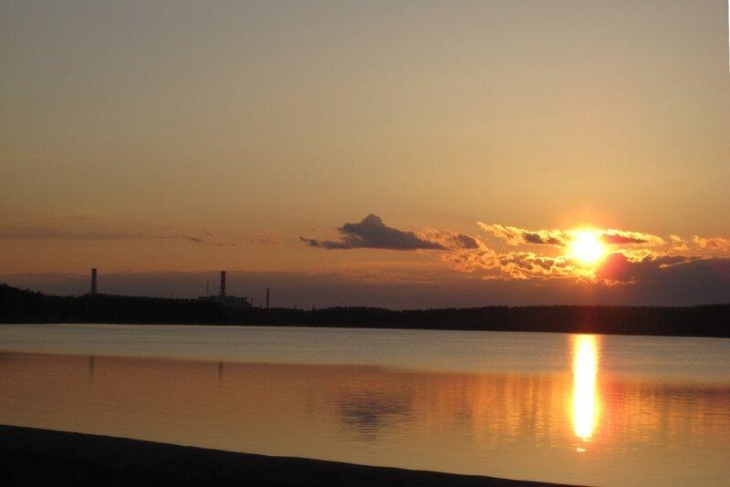 АЭС закат