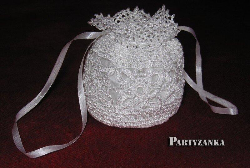 А как насчет вязанной крючком вечерней сумочки или для невесты.  Например, такой.  Фото не мое, из инета.
