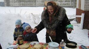 Масленица, 2011г. Метель блинам не помеха!
