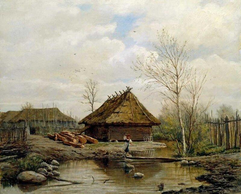 Павел Александрович Брюллов  (1840-1914). Весна 1875.