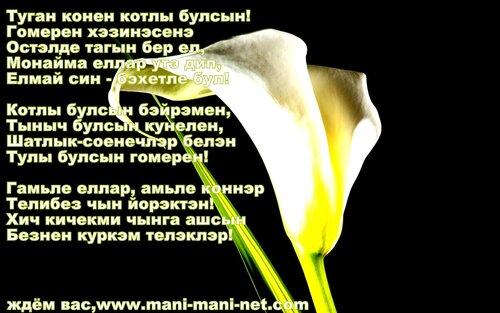 Поздравления с днем рождения мужчине на татарском языке 60 лет