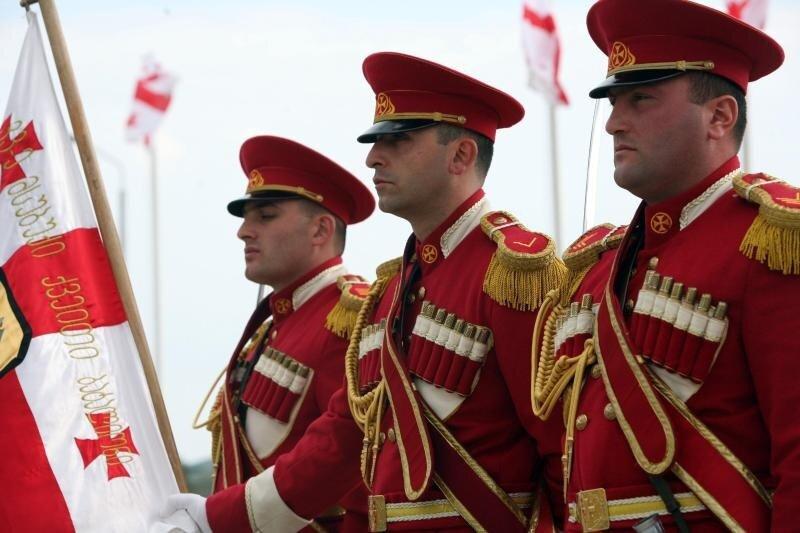 Marines and Georgian delegates appreciate selfless service of Georgian soldiers