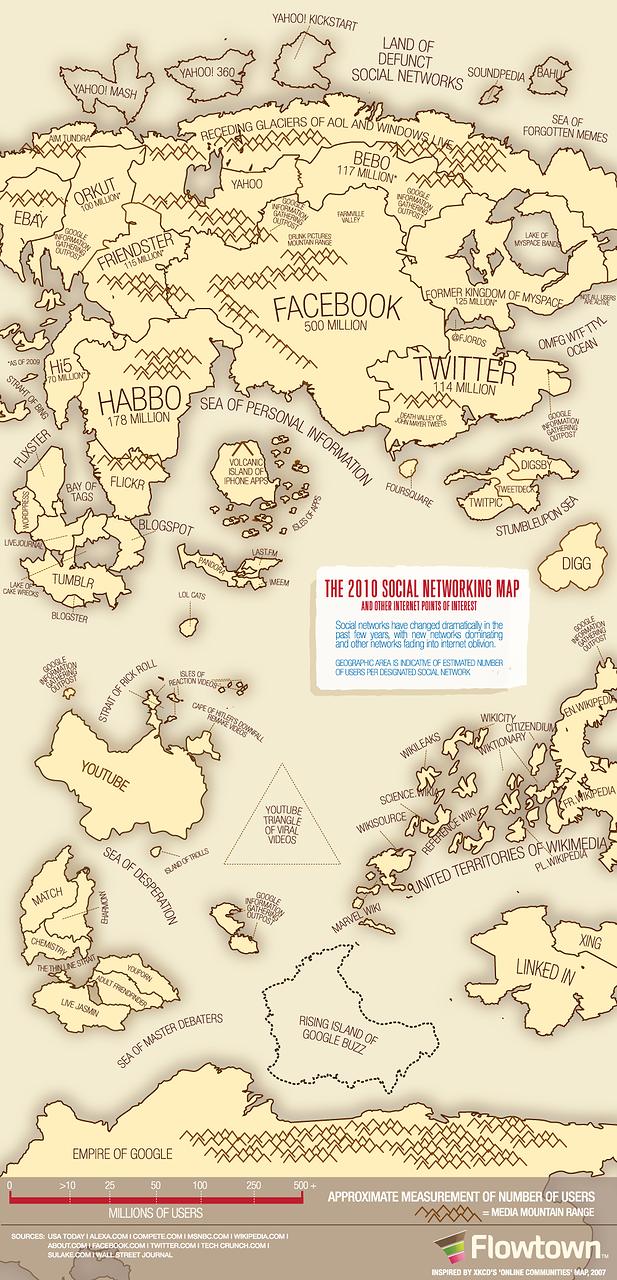 социальная сеть на карте