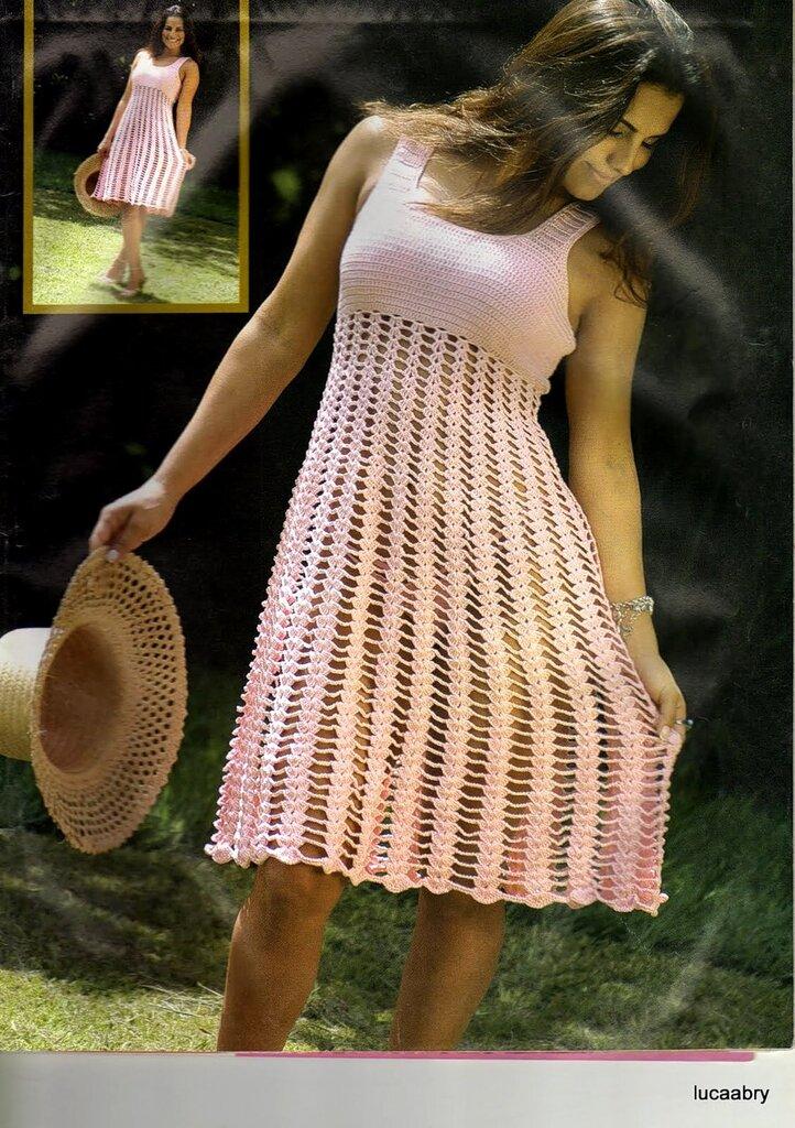 Комментарий: ажурные платья крючком схемы.