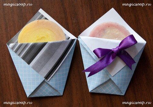 Ещё один вариант конверта-упаковки для мыла ручной работы
