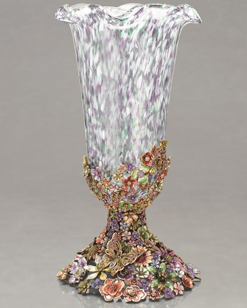 Как украсить хрустальную вазу