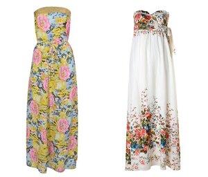 летние платья в пол.  Женщина в платье.
