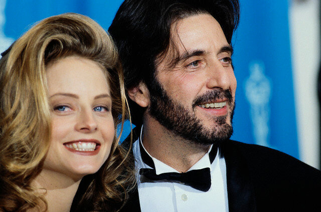 Jodie Foster and Al Pacino at the Academy Awards