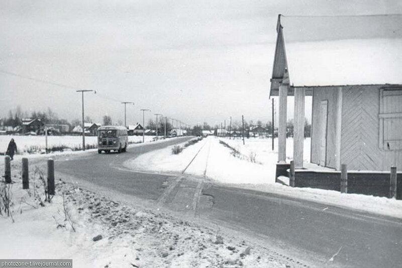 Коломяги, вид на станцию Юный (станции тогда еще не существовало)