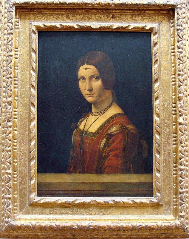 """Леонардо да Винчи """"Портрет дамы при  миланском дворе"""""""
