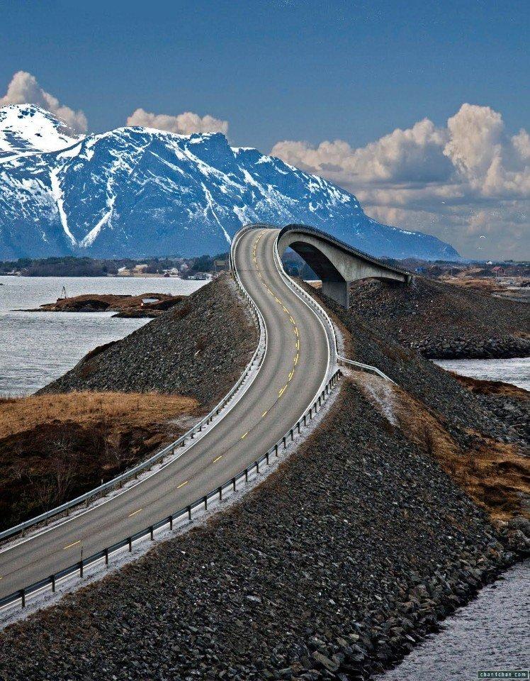 Атлантическая дорога, Норвегия (6 фото)