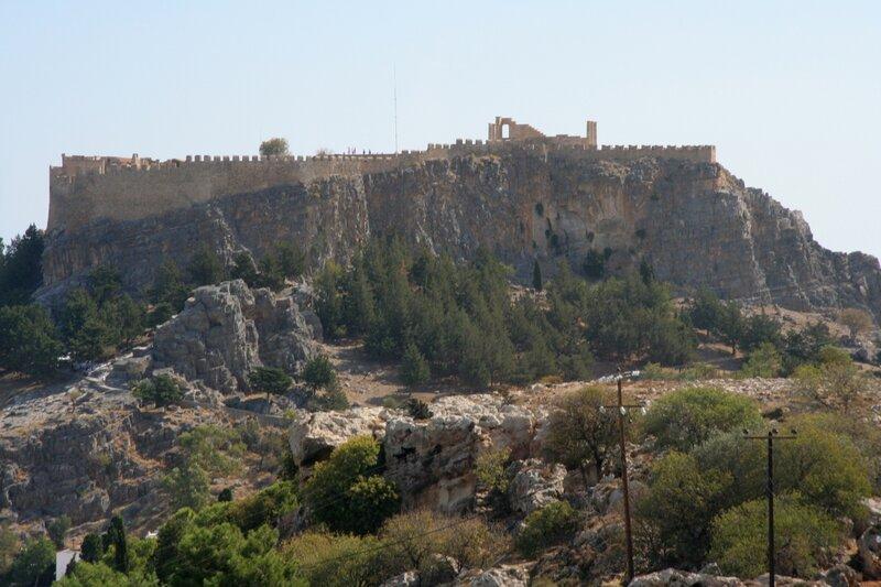 Вид на акрополь Линдоса