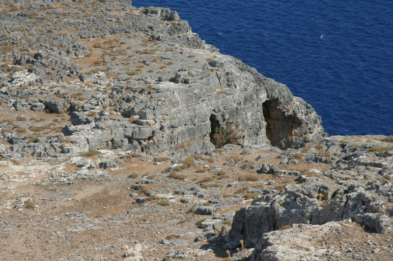 Берег Средиземного моря в Линдосе