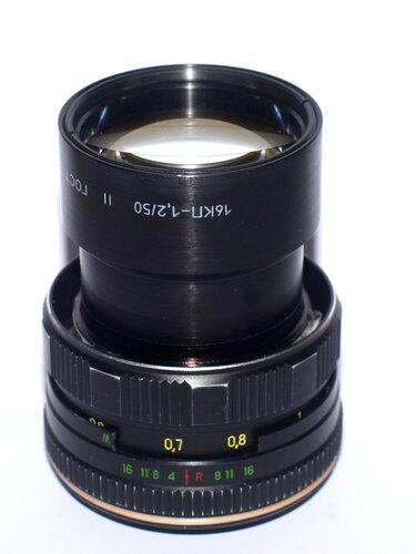 16КП-1,2/50 переделанный на Sony NEX