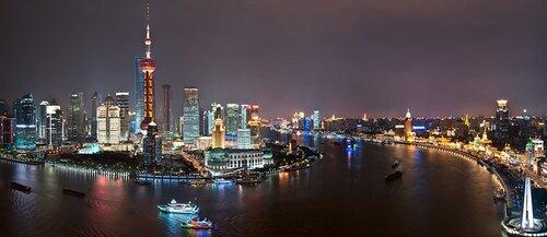 набережная Бунд в Шанхае