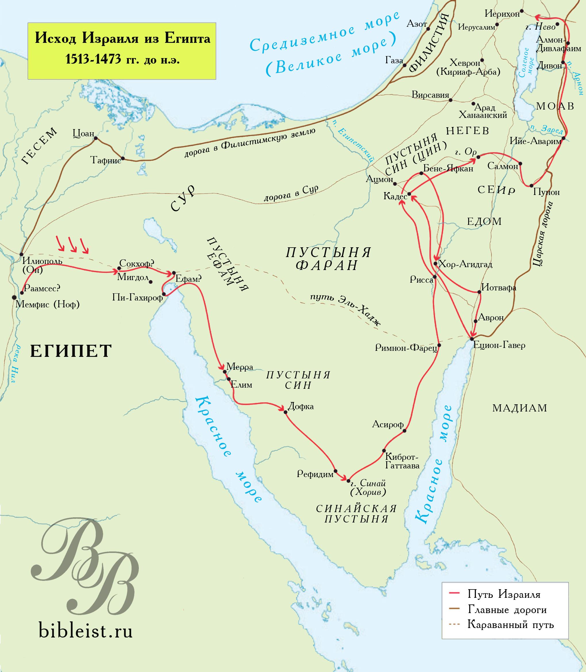 Библейские схемы карты