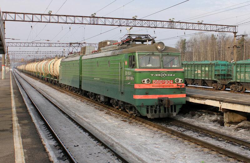 ВЛ10У-904 на станции Горы