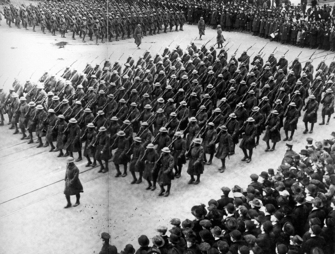 1919. Март. 369 пехотный полк в Нью-Йорке