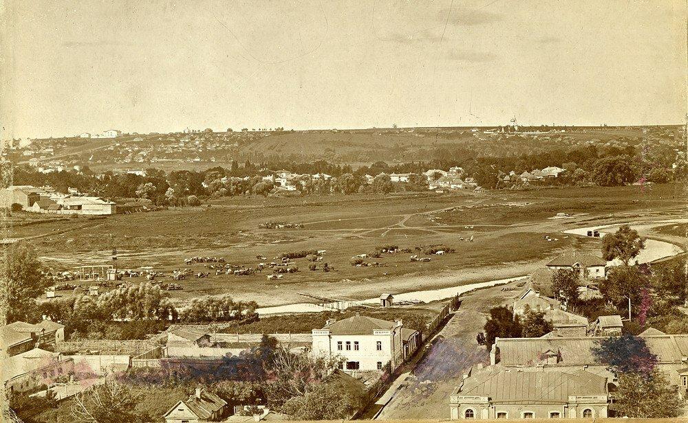 Панорама Залопанской части (Базарная площадь)