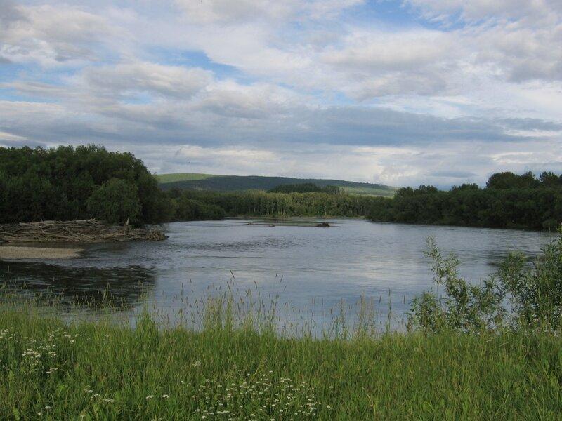 Берег реки Камчатки