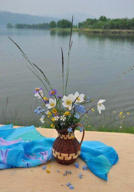 Натюрморт на берегу Ангары