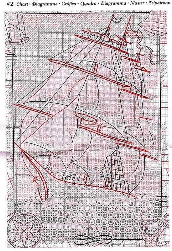 Корабль изонить схемы