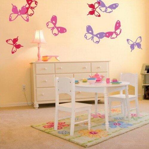 Бабочки в интерьере для девочки