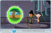 ����� � ����: ��������� ������� ��������� / Phineas and Ferb the Movie: Across the 2nd Dimension (2011) DVDRip