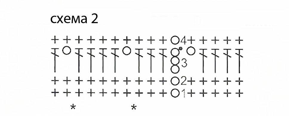 Схема вязания крючком бежевой
