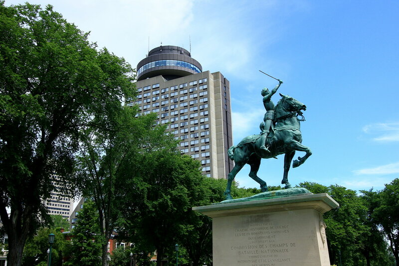 Statue of Jeanne d'Arc in Quebec City