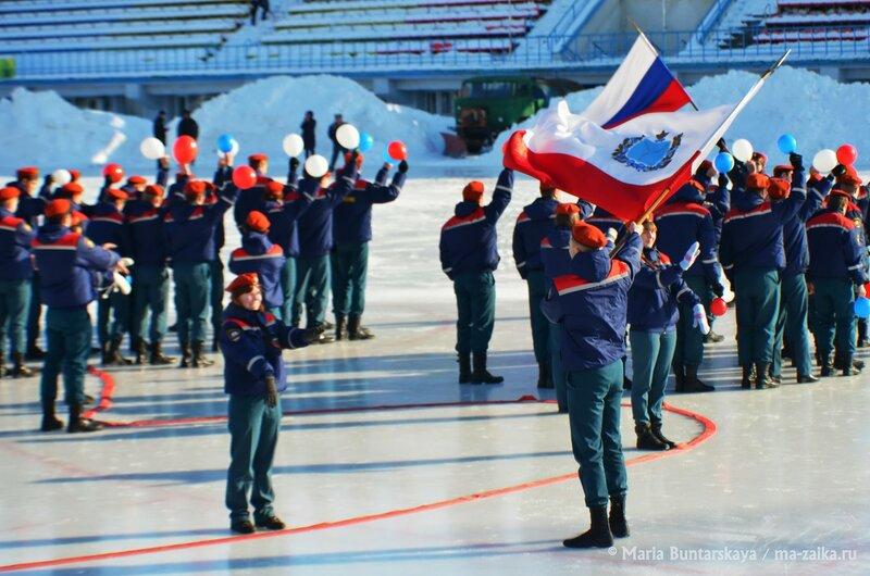 25-летие МЧС России, Саратов, стадион 'Динамо', 13 февраля 2015 года