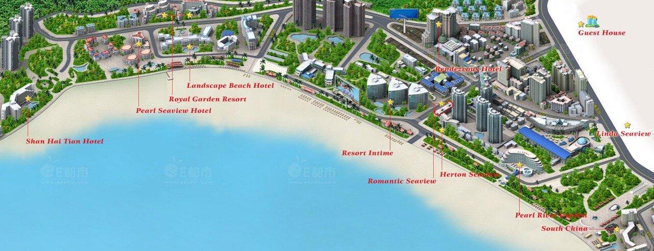 карта отелей Дадунхай