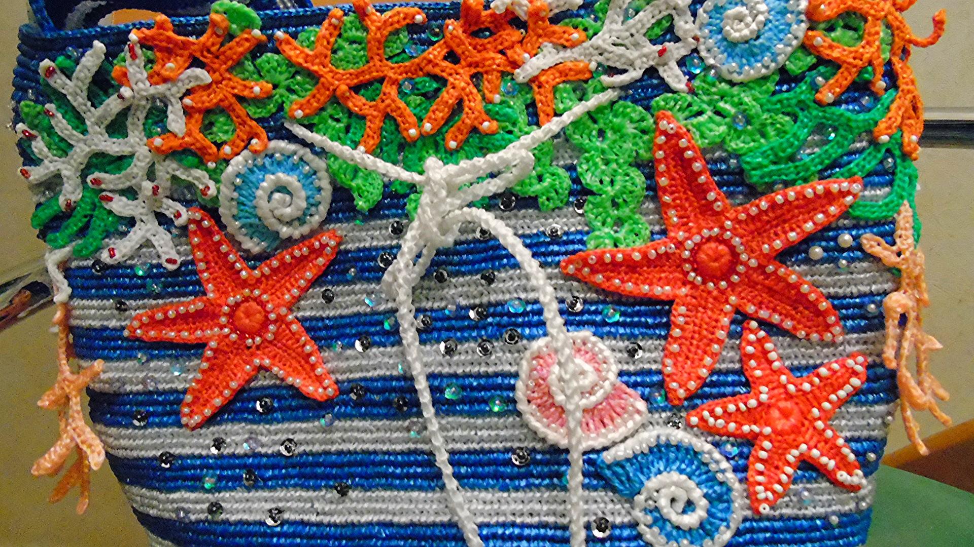 Вязание крючком пляжные сумки 96