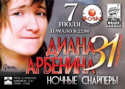 День рождения Дианы Арбениной