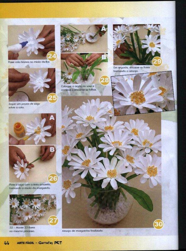 Как сделать из пластиковых бутылок цветы пошагово