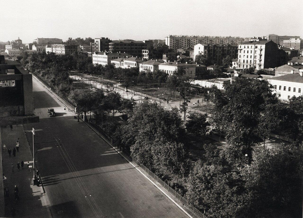 1948. Цветной бульвар, восточная сторона.