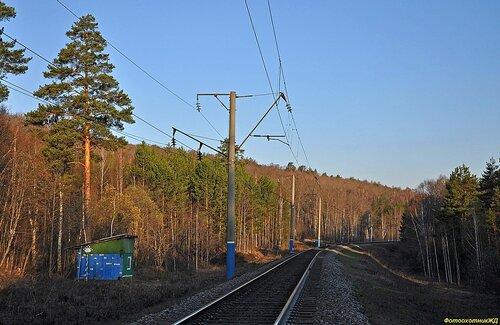 вид в сторону станции УЛУ-ЕЛГА