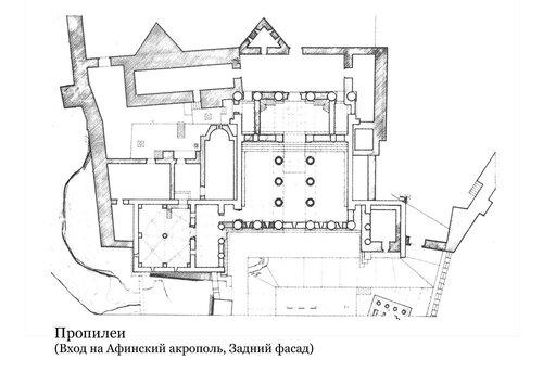 Пропилеи Афинского акрополя план