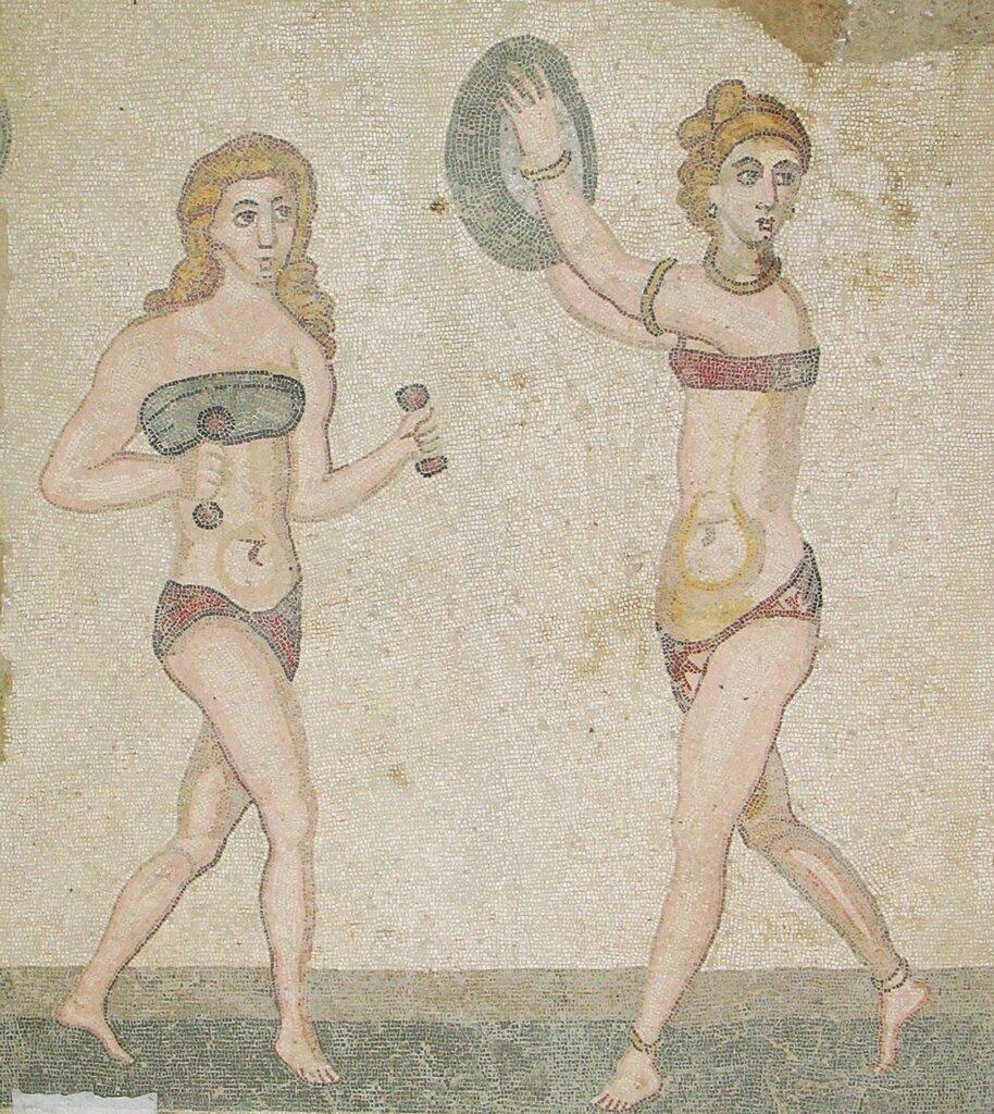 Мозаики Виллы дель Казале, близ Пьяцца Армерина, Сицилия. Начало 4 в.