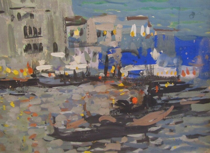 Коровин. Венеция. Ночь. 1900-е
