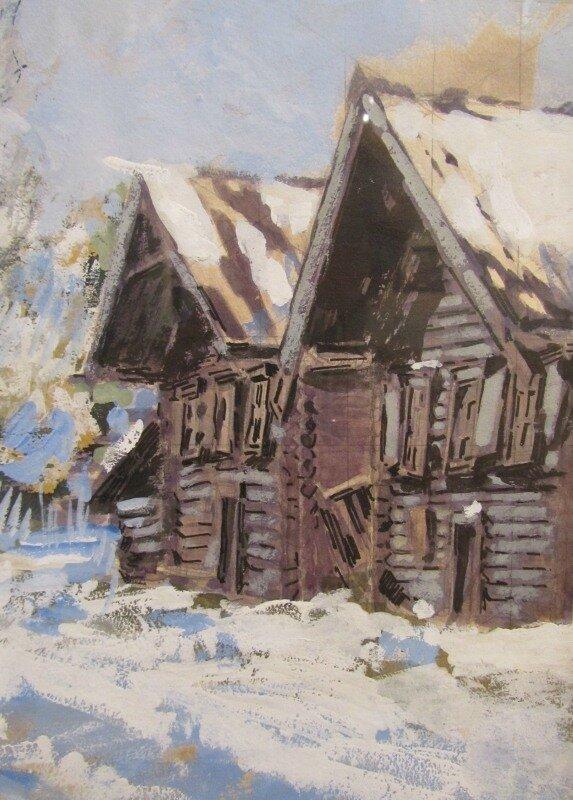 Коровин. Зима. 1914
