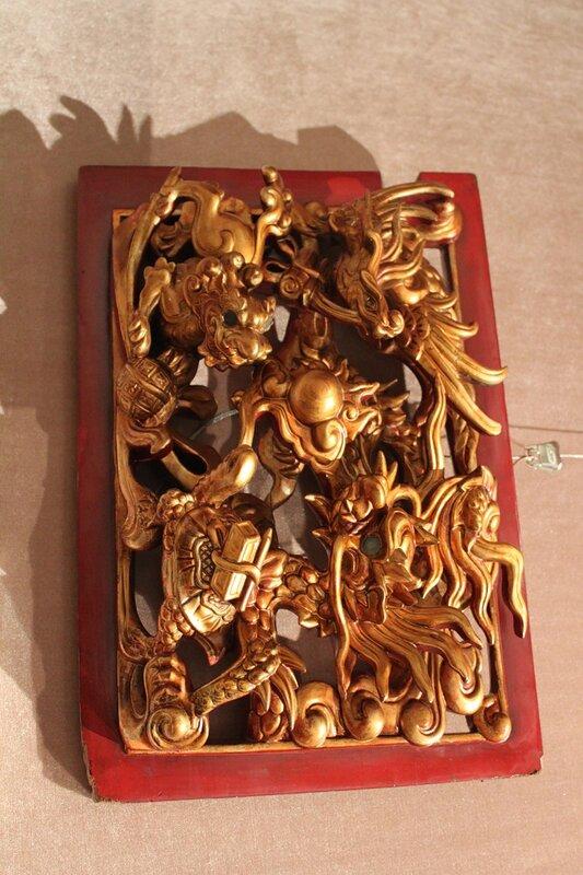 Панно с изображением четырёх священных животных