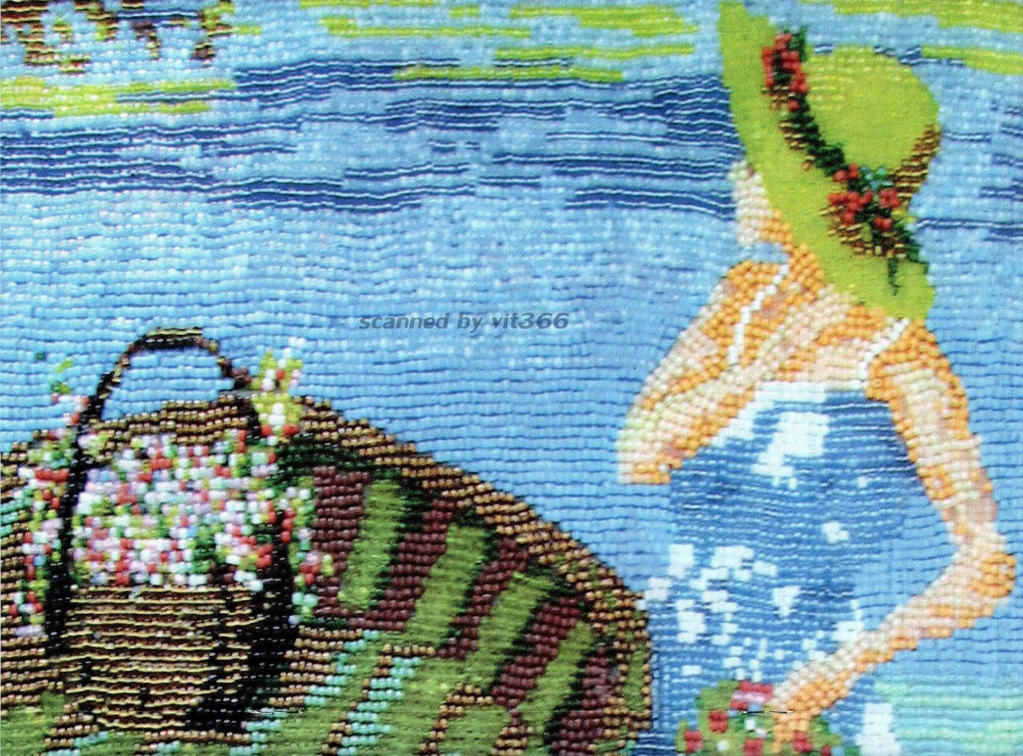 Картины из бисера на клею своими руками фото