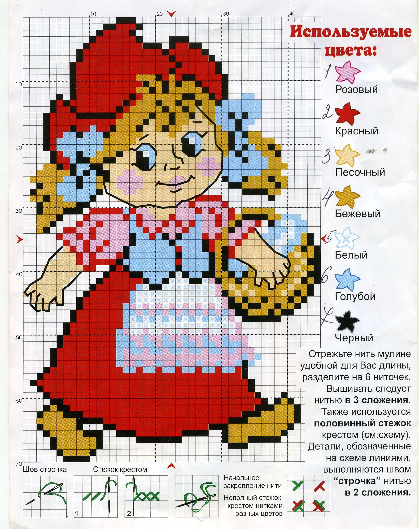 Схемы для вышивки крестиком сказочные
