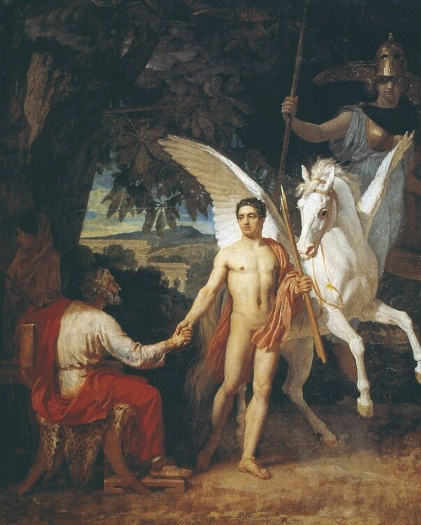 Bellerophon is sent to the campaign against the Chimera 1829 by Ivanov A.A.(1806-1858)