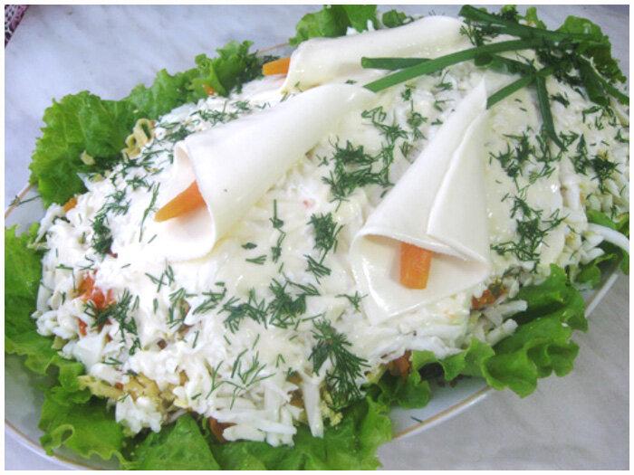 фото рецепт салат каллы