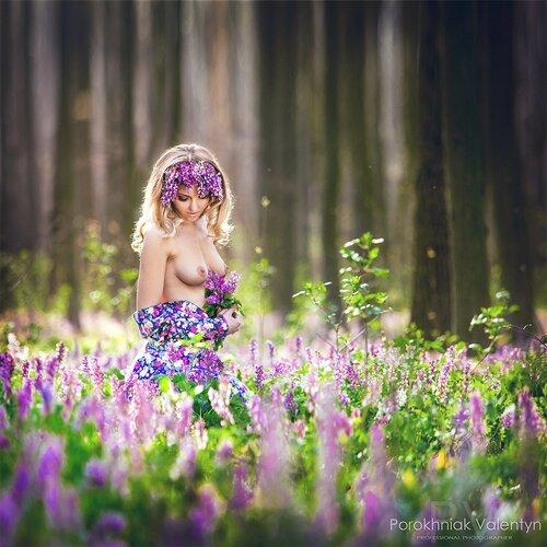 Девушки и Цветы. 18+