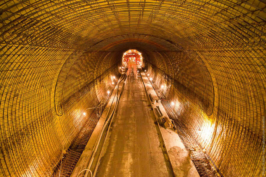 Армирование тоннеля / Reinforcement of the tunnel